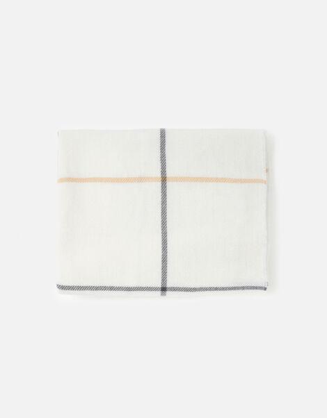 Carter Check Blanket Scarf, , large