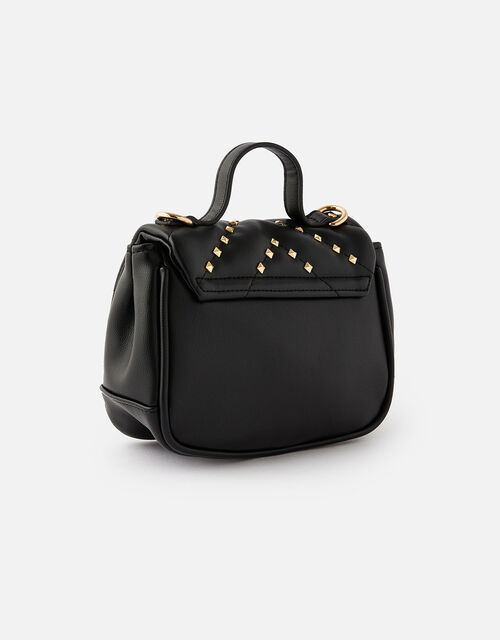 Studded Cross-Body Bag , Black (BLACK), large