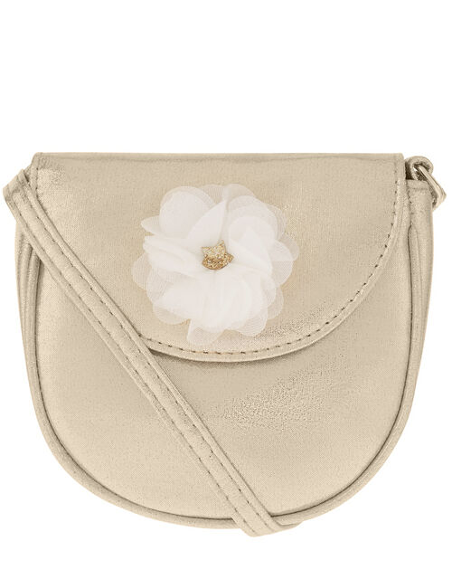Floral Shimmer Cross-Body Bag, , large