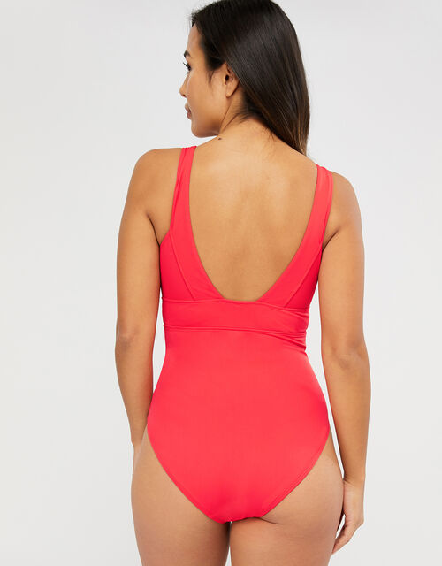 Lexi Plunge Shaping Swimsuit, Red (RED), large