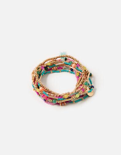 Island Vibes Multirow Stretch Bracelet Multipack , , large