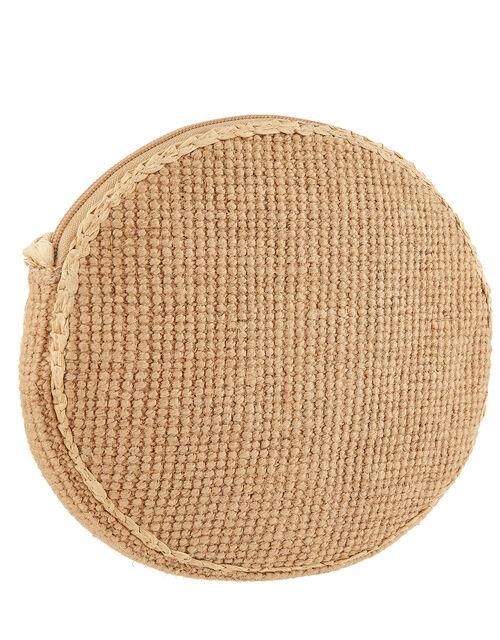 Catherine Raffia Circle Cross-Body Bag, , large