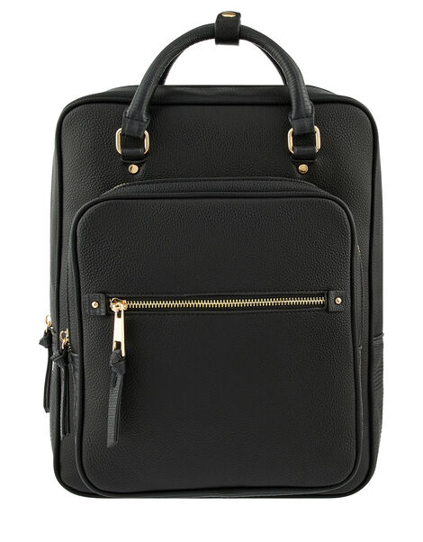 Harriet Backpack Black, Black (BLACK), large