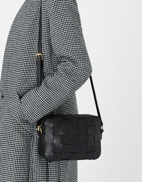 Hayley Weave Camera Bag Black, Black (BLACK), large