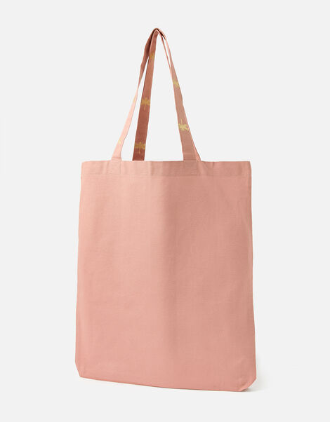 Novelty Foil Print Shopper Bag Nude, Nude (NUDE), large