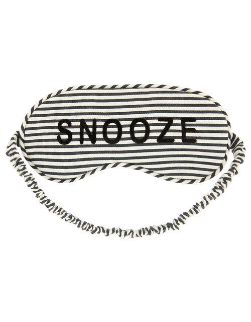 Stripe Snooze Eye Mask, , large