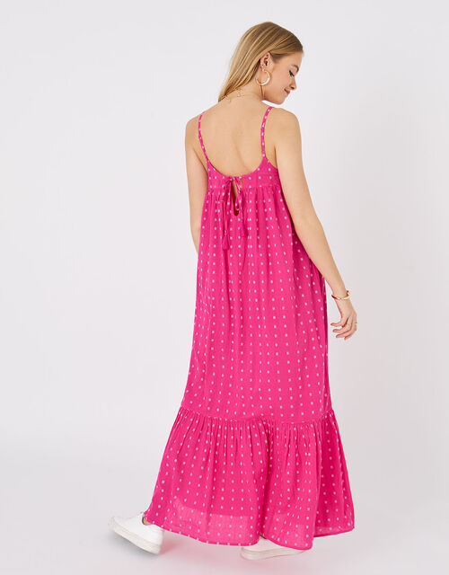 Dobby Maxi Dress, Pink (PINK), large