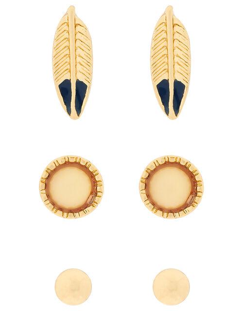 Leaf Stud Earring Set, , large