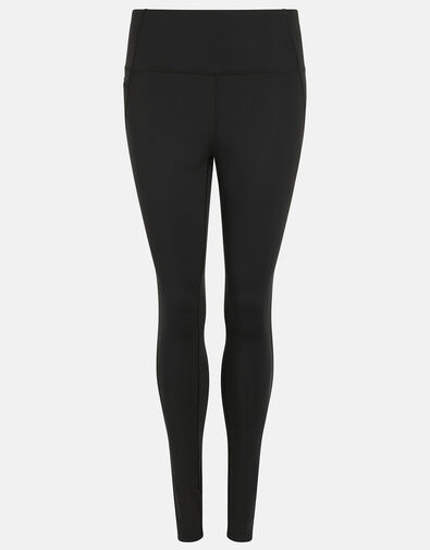 Full-Length Gym Leggings Black, Black (BLACK), large