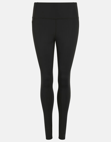 Full-Length Gym Leggings Black, Black (BLACK), large