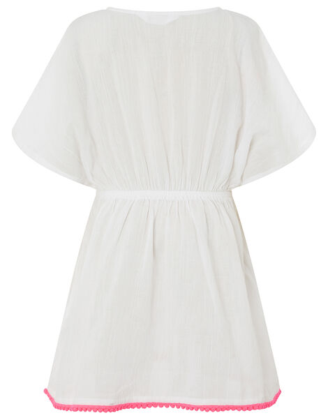 Shell Embroidered Kaftan White, White (WHITE), large