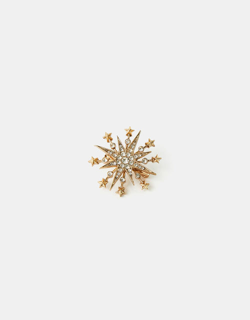Christmas Sparkle Crystal Brooch, , large