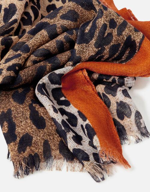 Stripe Leopard Scarf , , large