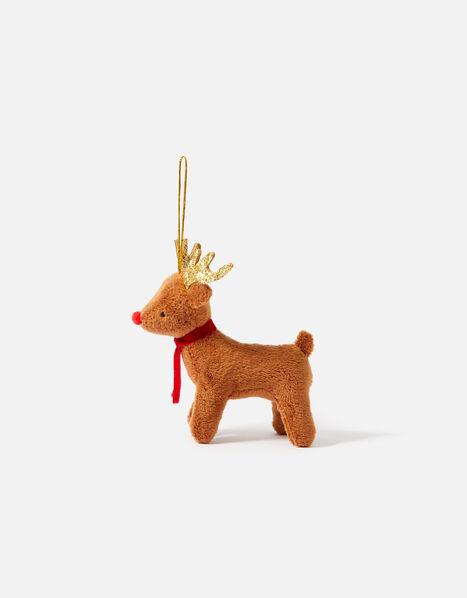Kids Reindeer Christmas Hanging Decoration, , large