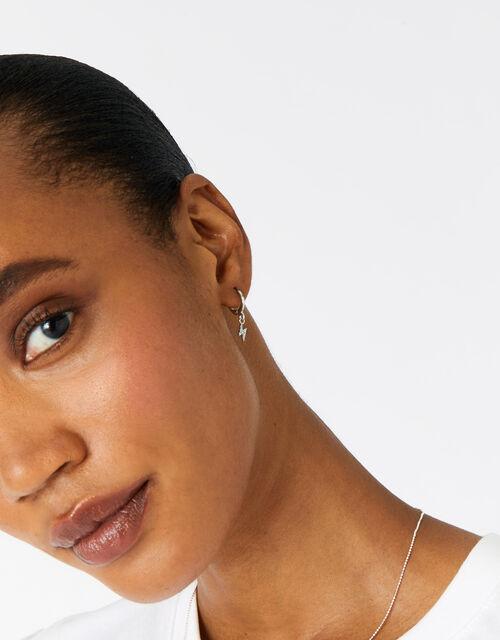 Platinum-Plated Celestial Earring Set , , large