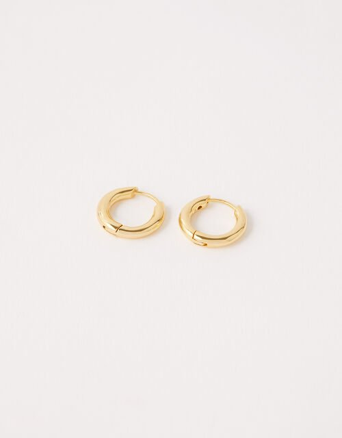 Gold Vermeil Huggie Hoop Earrings, , large