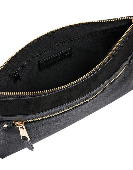 Cross-Body Envelope Bag Black, Black (BLACK), large