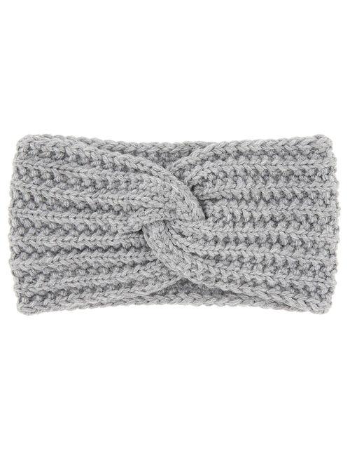 Chunky Knit Bando, Grey (LIGHT GREY), large