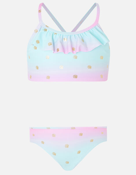 Mermaid Shell Print Bikini Set Multi, Multi (BRIGHTS-MULTI), large
