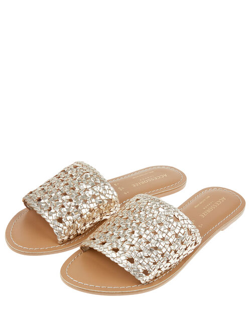 Woven Sliders, Gold (GOLD), large