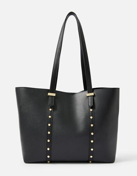 Ali Studded Tote Bag  Black, Black (BLACK), large