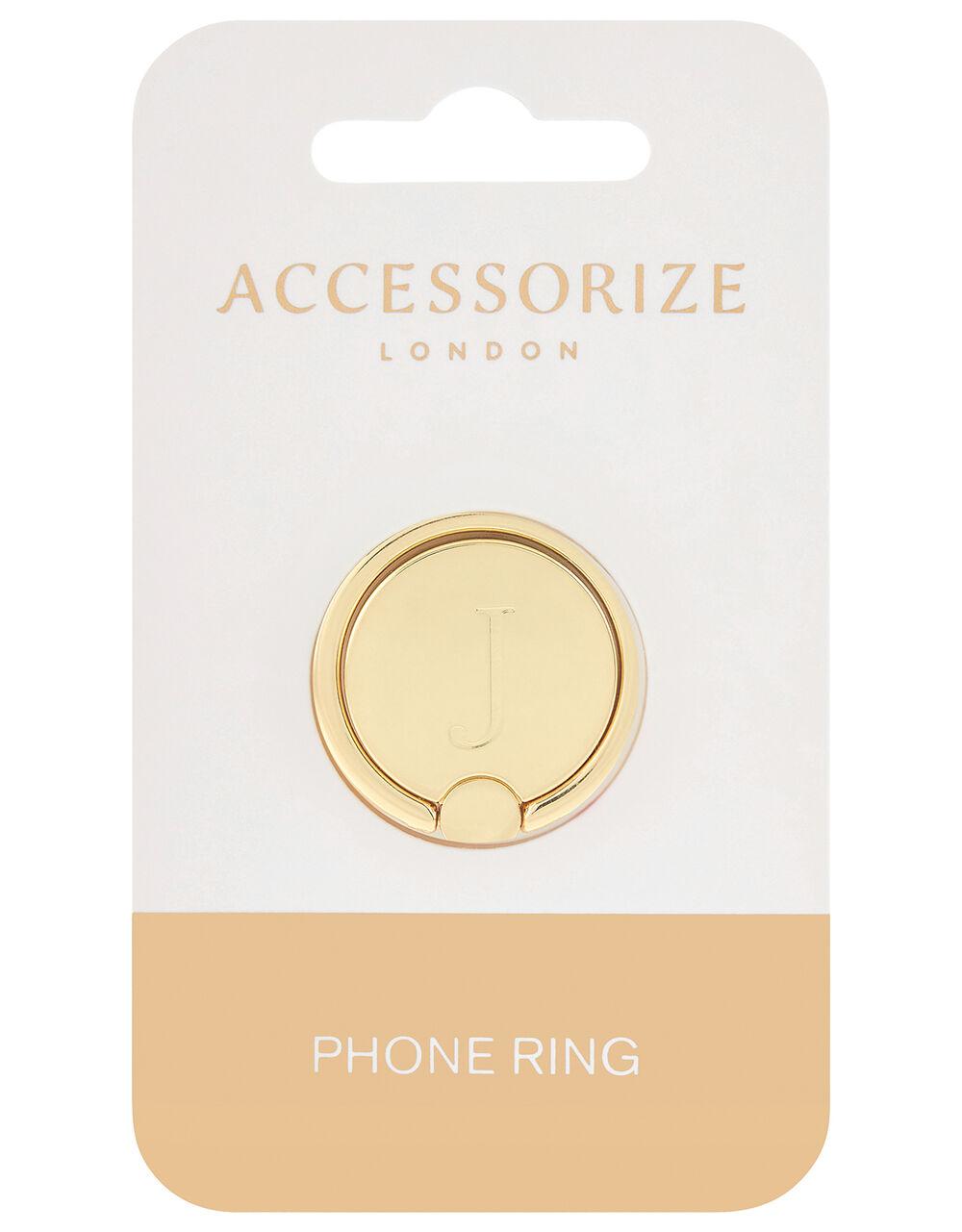Metallic Initial Phone Ring - J, , large