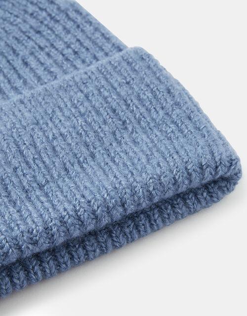 Soho Knit Beanie Hat, Blue (BLUE), large