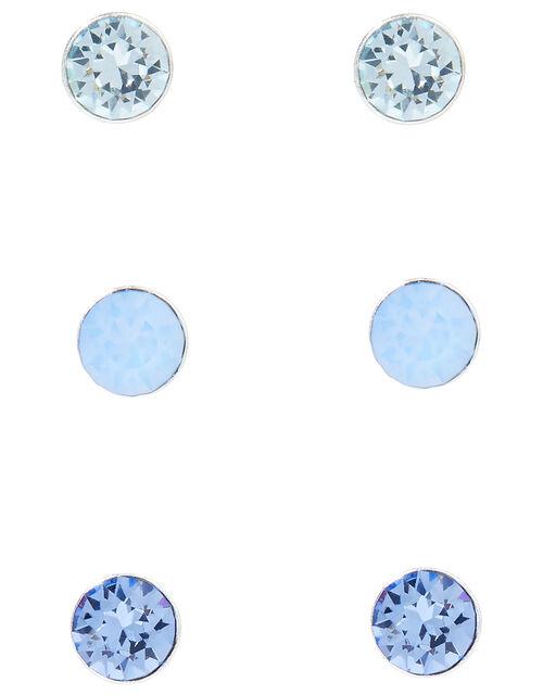 Sterling Silver Stud Multipack with Swarovski® Crystals, , large
