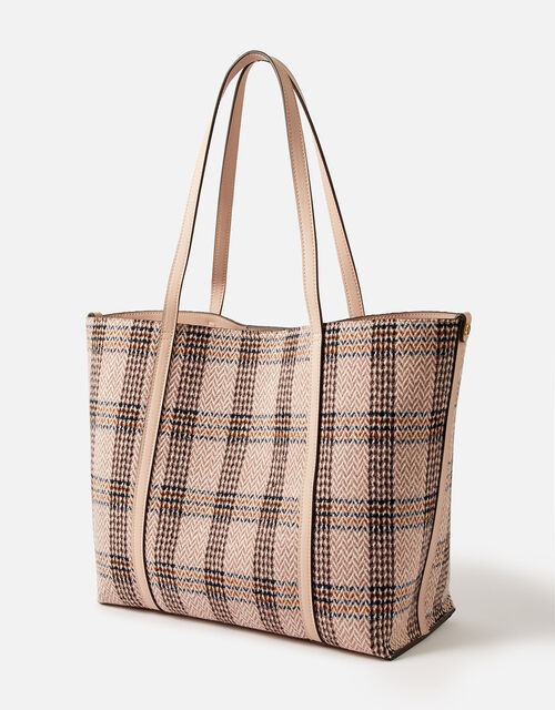 Chelsea Check Tote Bag, , large
