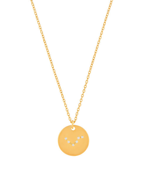 Gold-Plated Constellation Necklace - Libra, , large
