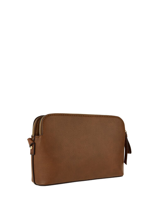 Taylor Vegan Cross Body Bag, Tan (TAN), large