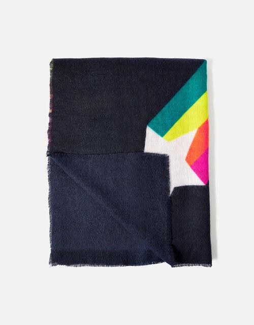 Shooting Rainbow Star Blanket Scarf, , large