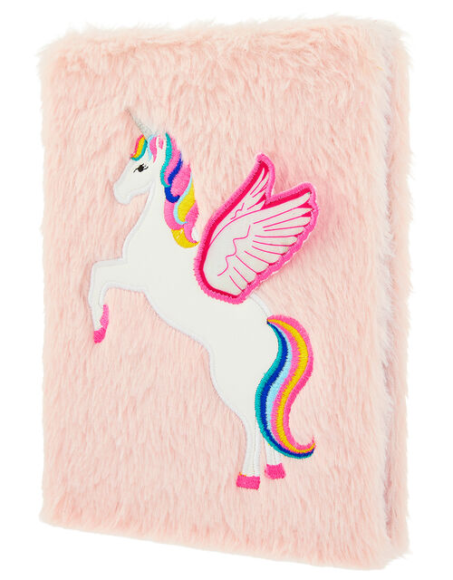 Fluffy Retro Unicorn Notebook, , large