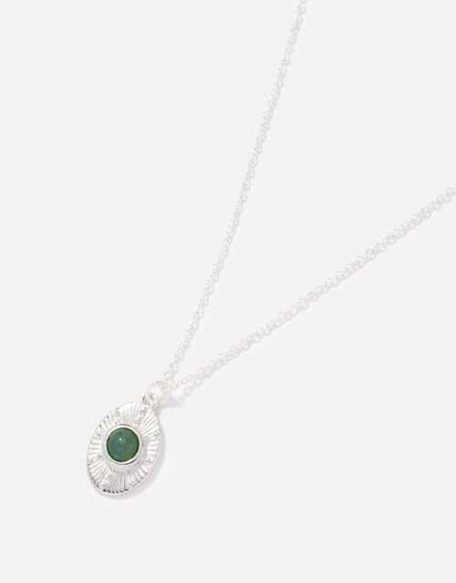 Sterling Silver Aventurine Necklace, , large
