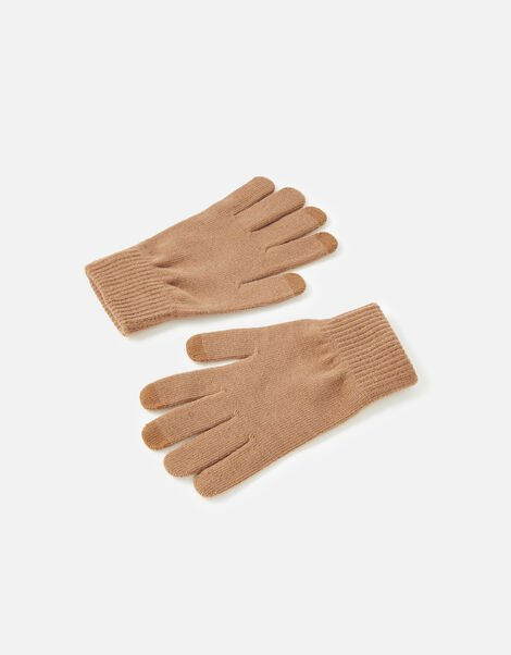 Stretch Touchscreen Gloves Camel, Camel (CAMEL), large