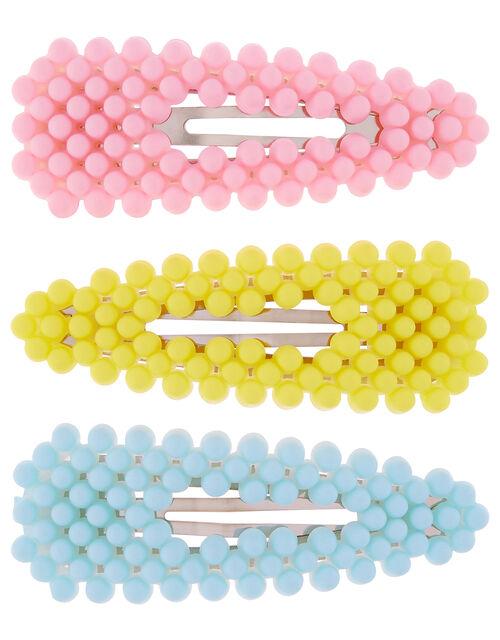 Bright Beaded Hair Clip Set, , large