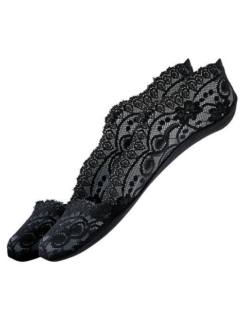 Lace Footsie Sock Set, Black (BLACK), large