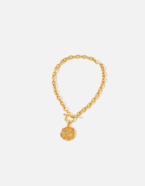 Gold-Plated Coin Pendant Necklace , , large