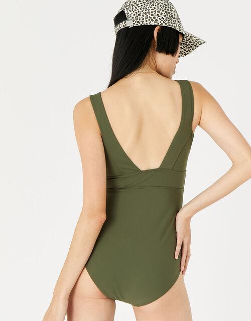 Lexi Plunge Shaping Swimsuit , Green (KHAKI), large