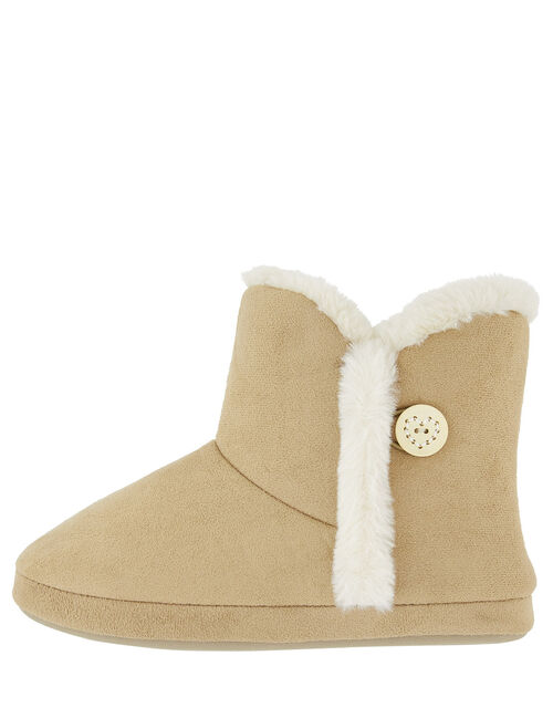 Suedette Slipper Boot, Tan (TAN), large
