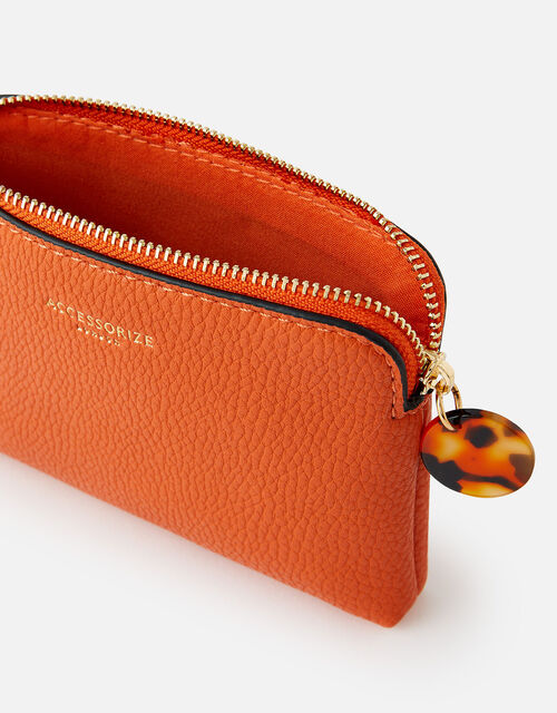 Reptile and Resin Coin Purse , Orange (ORANGE), large