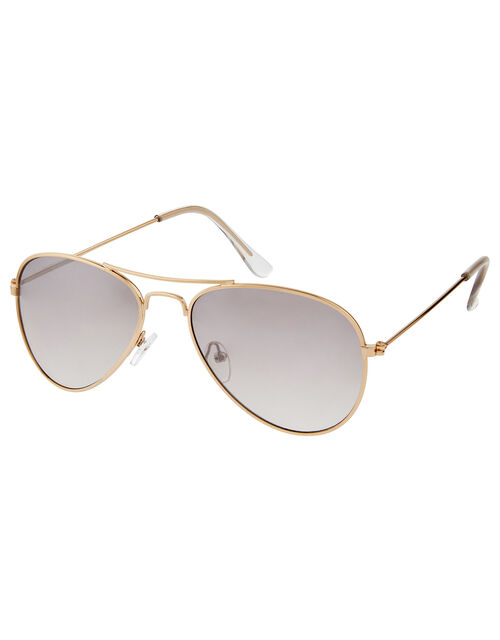 Tinted Aviator Sunglasses, , large