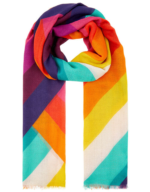 Rainbow Chevron Scarf, , large