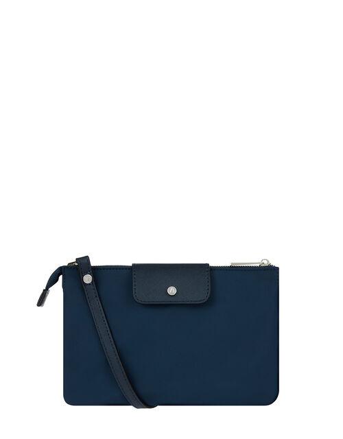 Nylon Cross-Body Bag, Blue (NAVY), large