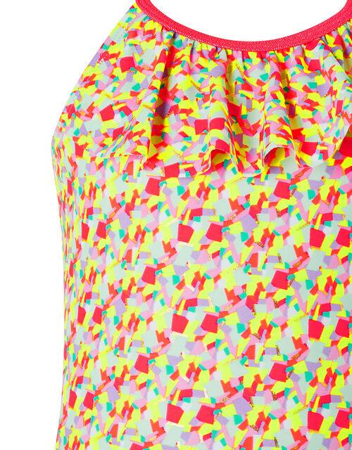 Metallic Print Swimsuit, Multi (BRIGHTS-MULTI), large