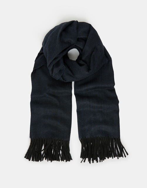 Holly Super-Soft Blanket Scarf, Navy, large