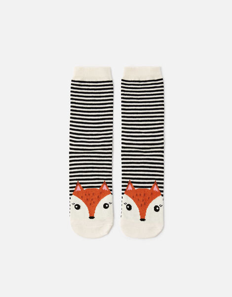 Fiona Fox Stripe Socks, , large