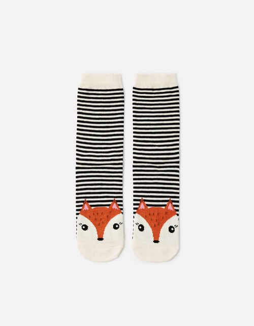 Fiona Fox Stripe Socks, , large
