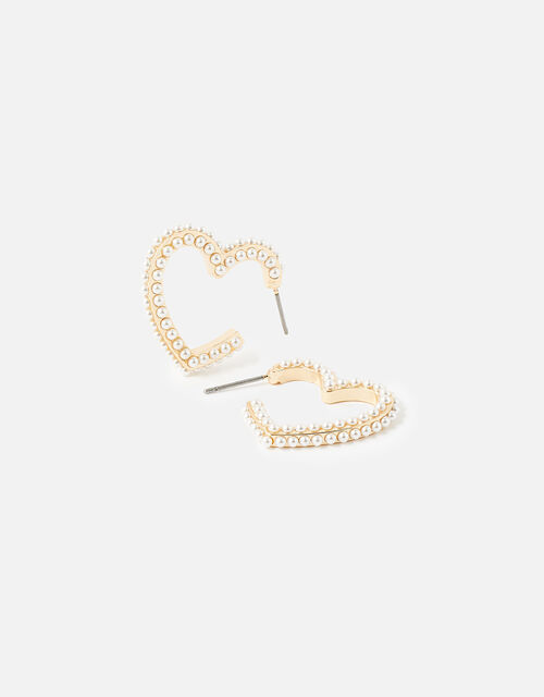New Decadence Heart Shaped Hoops, , large