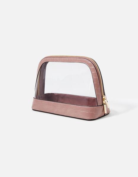 Large Clear Make Up Bag  Pink, Pink (PINK), large